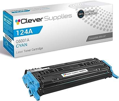 Amazon Com Cs Compatible Toner Cartridge Replacement For Hp 2600n Q6001a Cyan Hp 124a 1600 2600 2600n 2600dn 2605 2605dn 2605dtn Cm1015 Cm1015mfp Cm1017 Cm1017mfp Office Products