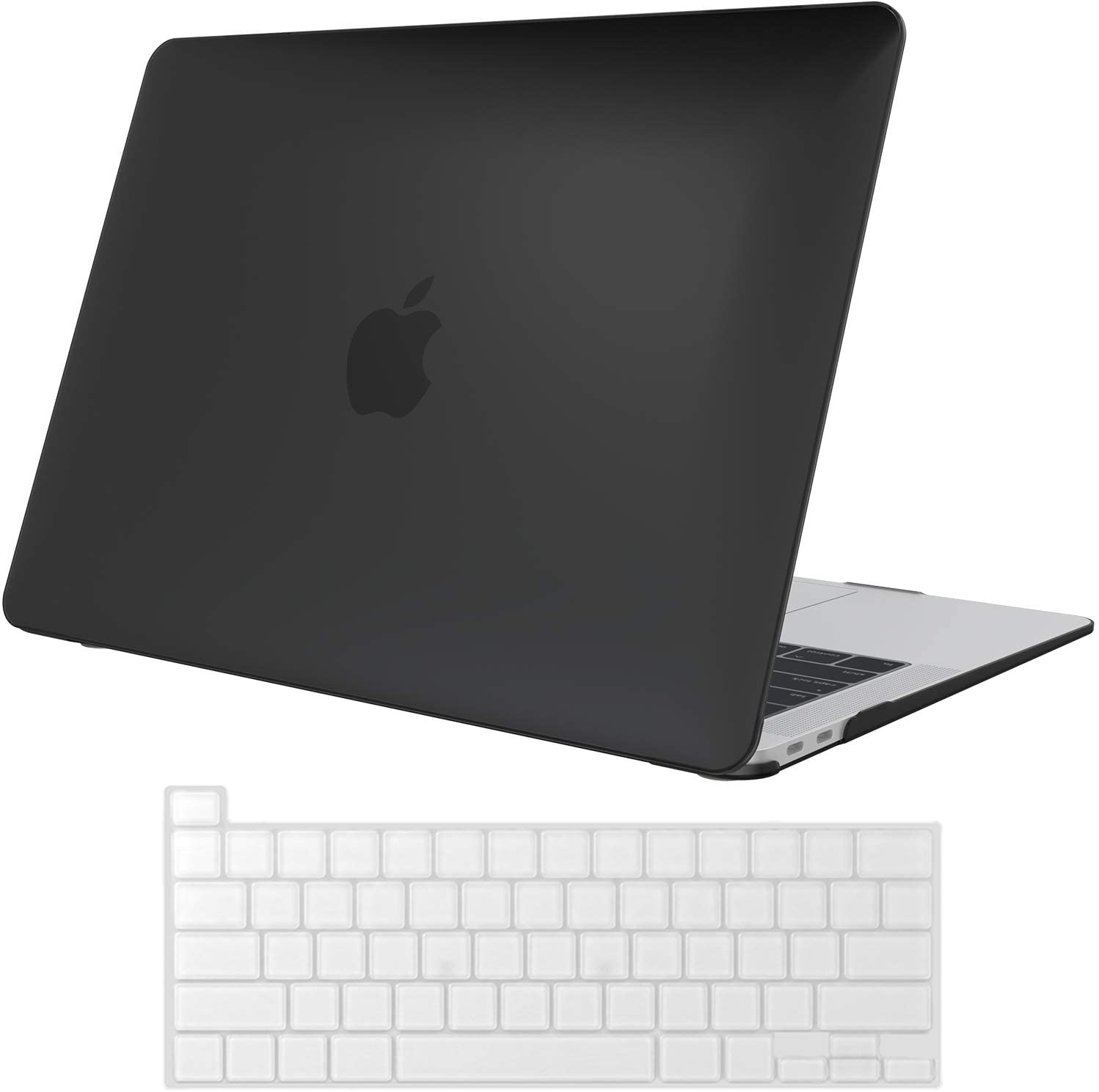 ProCase MacBook Pro 13 Case 2020 Release A2289 A2251, Hard Case Shell Cover and Keyboard Skin Cover for New MacBook Pro 13 Inch Model A2289 A2251 - Black