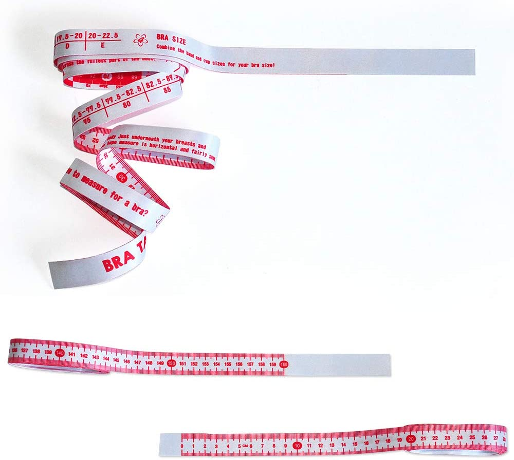 Easy to Measuring Chest Circumference and Body CM WIN TAPE Pink and White Cloth Bra Tape Measure