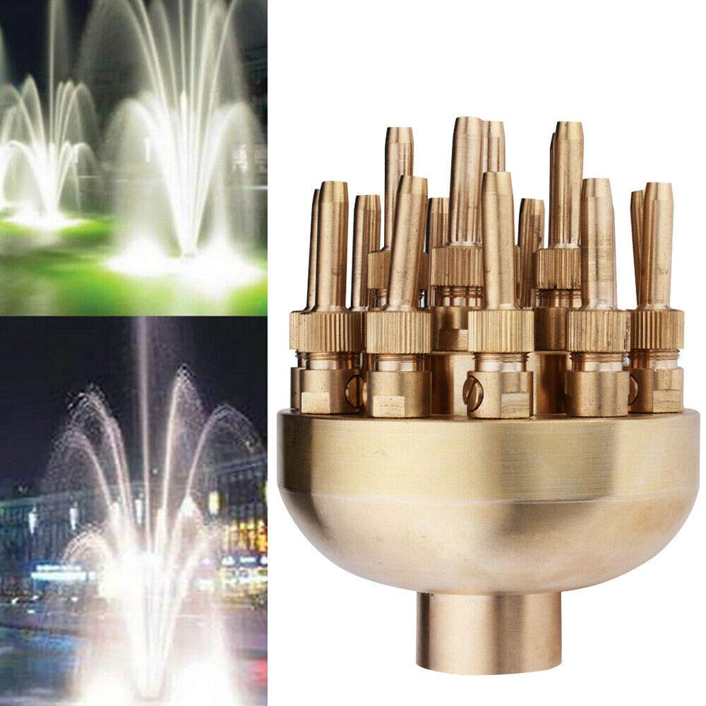 ONEPACK Fountain Nozzle Flower Sprinklers with 19 Spray Head for Garden Pond Amusement Park, Museum Library Pond Pool Fountain