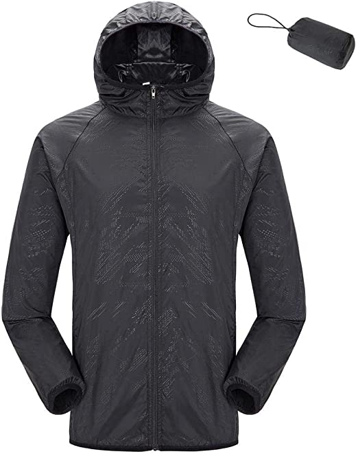Women Mens Lightweight Windproof Waterproof Jacket Quick Dry Windproof Skin Coat