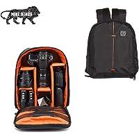 Brain Freezer J Lightweight Camera Backpack Bag for DSLR/SLR Camera Lens (Black Orange)