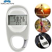 MUXAN 3D Podómetro Rastreador de Ejercicios Contador de Pasos preciso Rastreador de Actividad Podómetro de calorías…