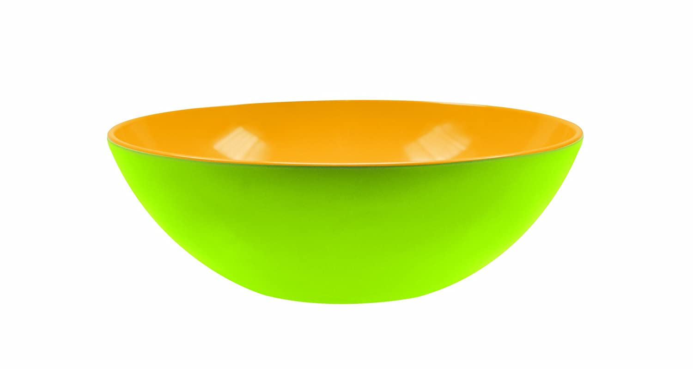 zak! Duo Salatschüssel tief 22cm in grün/gelb, Melamin, 28x28x12 cm Zak Designs 2114-0321