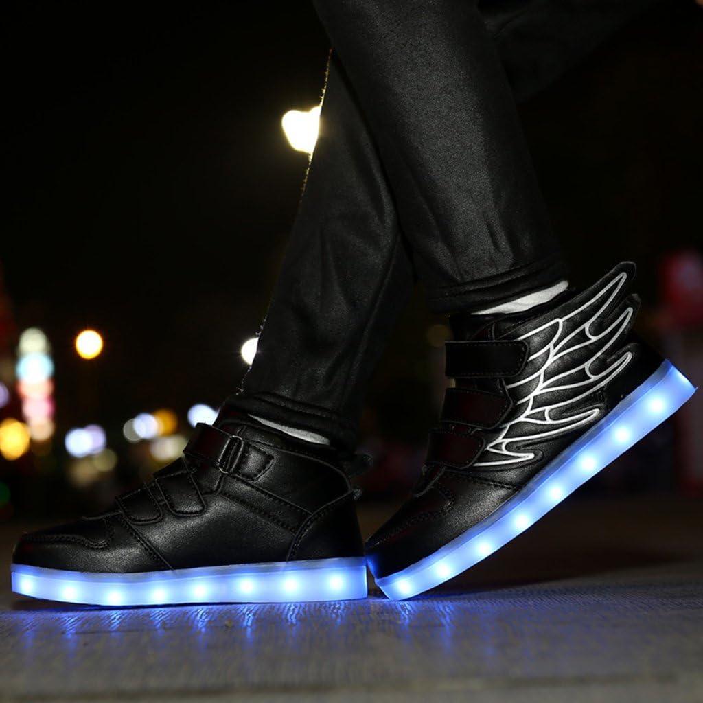 IPOTCH Alas Led Iluminar Zapatos Intermitentes Zapatillas Recargables para Ni/ños