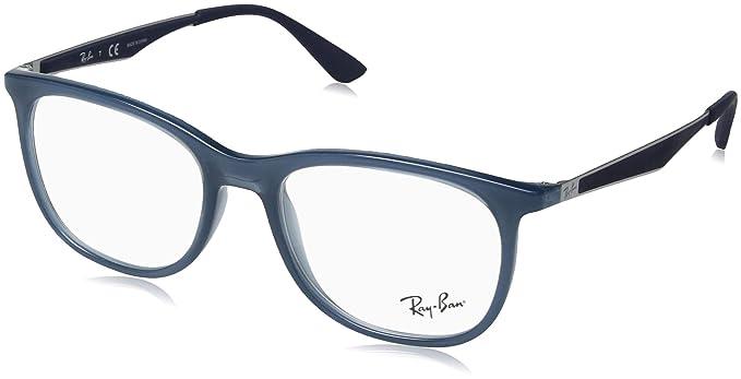 ffec6dd056b Amazon.com  Ray-Ban Men s RX7078 Eyeglasses Trasparent Light Blue ...
