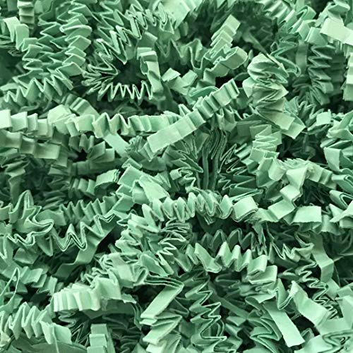 Black Cat Avenue 1/2 LB Mint Crinkle Cut Paper Shred Filler for Gift Wrap and Basket Filler