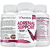 NutraCura Adrenal Support for Women - Adrenal Fatigue Supplement - A Complex Formula of Natural Ingredients, Including Ginseng, Ashwagandha, Rhodiola Rosea and Licorice - 120 Capsules