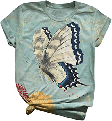 Women T-Shirt Plus Size Tops Tee Short Sleeve 3D Animal Printed Blouse Casual O-Neck Tunic