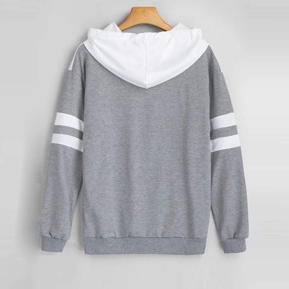 XUANOU Womens Hoodie Sweatshirt Long Sleeve Jumper Pullover Blouse Crop Top