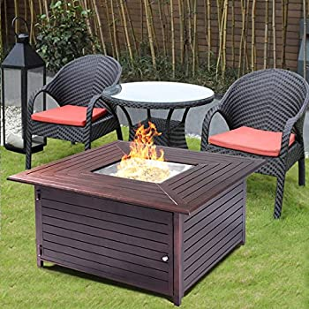 giantex fire pit table aluminum frame outdoor propane gas stove furniture with cover outdoor patio furniture with fire pit d74 patio