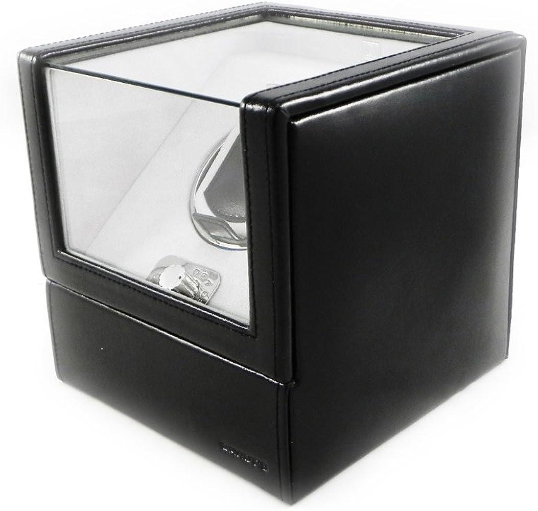 Davidts [I1045] - Caja de cuero Munich negro especial reloj de pulsera automática.: Amazon.es: Relojes