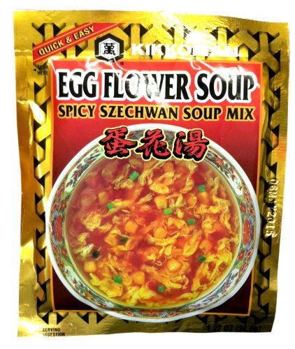 Egg Flower Soup - Kikkoman EGG FLOWER SOUP SPICY SZECHWAN Soup Mix 1.22oz (4 Pack)