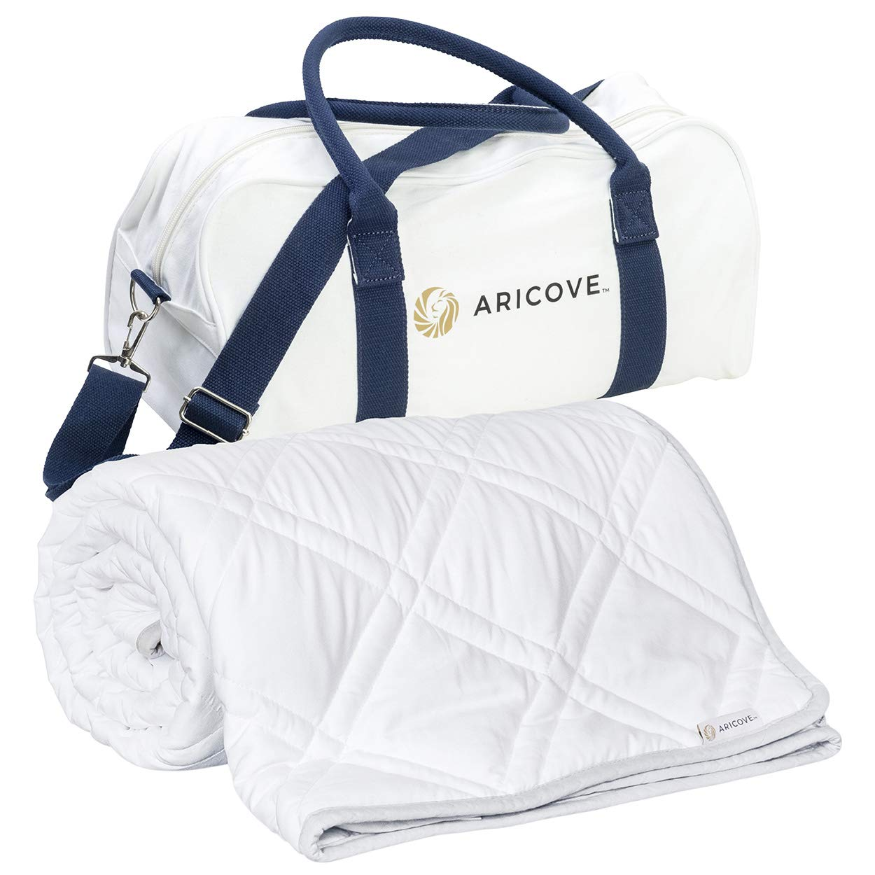 "Aricove Cooling Weighted Blanket Adult | Certified Premium Bamboo Viscose | 48""x72"" 
