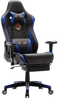 Ficmax Silla Gaming Ergonomica con Masaje Lumbar, Sillones de Oficina para Gamer, Reclinable…