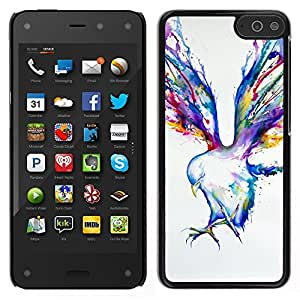 LECELL--Funda protectora / Cubierta / Piel For Amazon Fire Phone -- Pintura Blue Jay Arte de la acuarela --