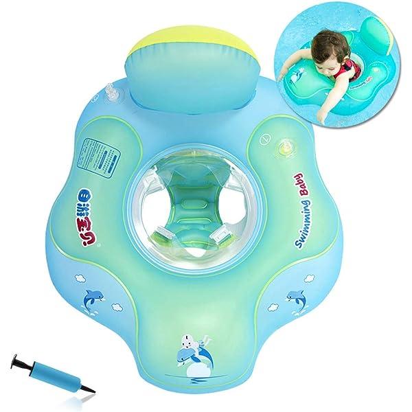 HONGCI Flotador de Natación para Bebés con Asiento Anillo,Bebé ...