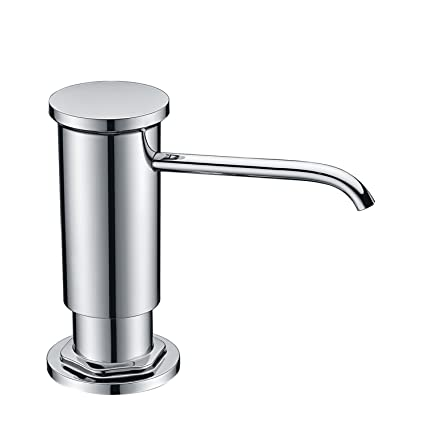 Built In Soap Dispenser For Kitchen Sink.Gicasa Chrome Built In Hand Liquid Sink Soap Dispenser With Abs Pump Head Countertop Kitchen Sink Soap Dispenser With Pp Bottle Copper Sprayer