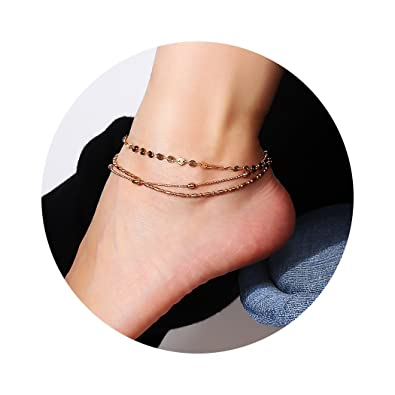Fashion Jewelry Usa Women Gold Barefoot Ankle Chain Anklet Bracelet Foot Jewelry Sandal Beach Online Discount Jewelry & Watches