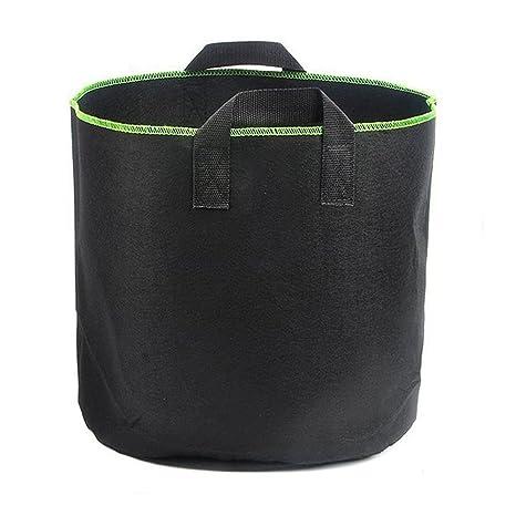 TOOGOO Bolsas de cultivo de plantas, 4 paquetes de 5 galones Bolsa de tela No tejido de Tela de Aireacion Para Planta de vegetales de flores Macetas del ...