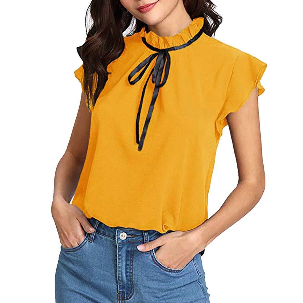 Camiseta de manga corta para mujer, de verano, con cuello tipo pan ...