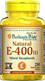 Puritan's Pride Vitamin E-400 iu Mixed Tocopherols Natural-250 Softgels