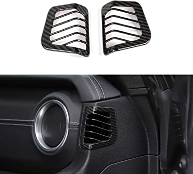 BORUIEN ABS Carbon Fiber Grain Engine Hood Decorative Cover Frame Trim for Jeep Wrangler JL 2018+