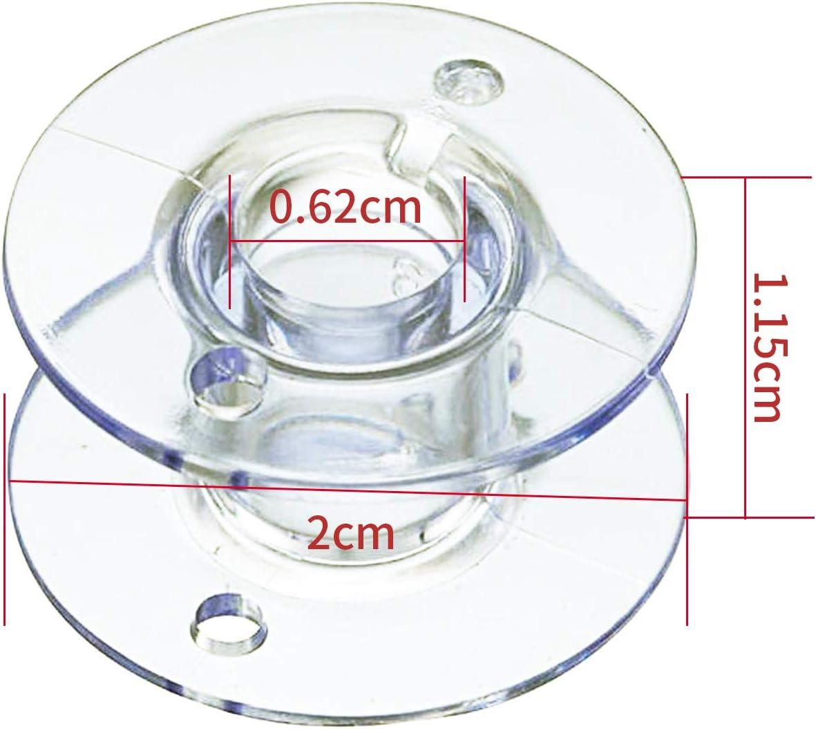 Flunyina 25PCS Transparent Plastic Sewing Machine Bobbins with 25 ...