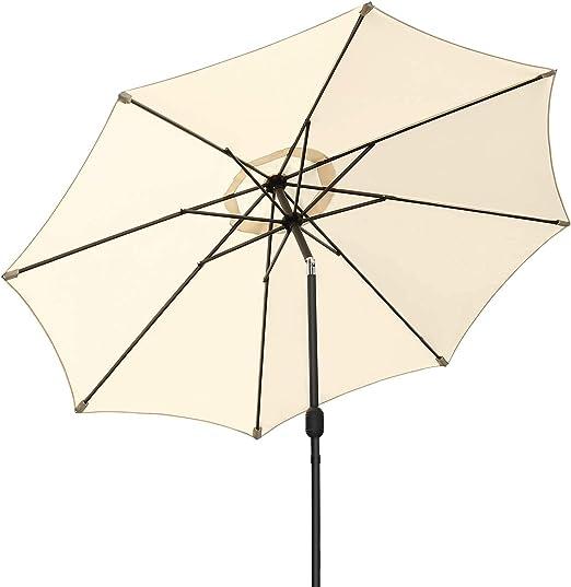 MVPower Parasol, Sombrilla Plegable, Sombrilla UV UPF 50+, Sombrilla Impermeable Protección Solar para Jardín, Balcón y Terraza (Beige 2): Amazon.es: Jardín