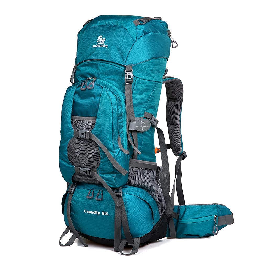 CXJC Mochila de Excursionismo 80 L/Mochila: Borde Reflectante Reflectante Borde para Acampar al Aire Libre, Viajes Nylon Negro, Azul Cielo, Azul, Azul 1e18b3