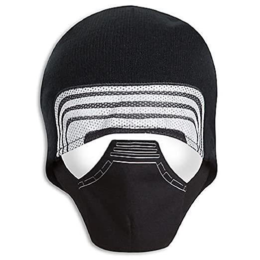 9bab2763f730d Amazon.com  Warm Winter Knit Black Hat Star Wars Boys Kylo Ren Face Costume  Hat size Med Large  Clothing