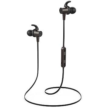 Auriculares Bluetooth, Auriculares Inalámbricos Estéreo en La Oreja, con Micrófono y Control de Volumen para Gimnasio Running Workout: Amazon.es: ...