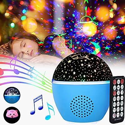 Proyector Estrellas GolWof Luz Nocturna Giratoria Lámpara de ...