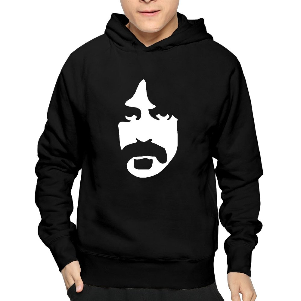 Mens Frank Zappa Vintage Retro 70s Rock Hooded Sweatshirt Awesome