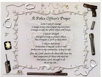 Amazon.com: Oración del Oficial de Policía regalo para el ...