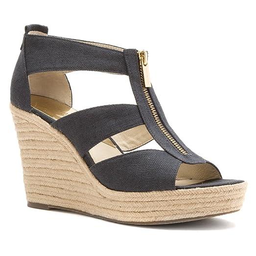 MICHAEL Michael Kors Women's Damita Wedge Sandals, Navy, 8.5 B(M) US