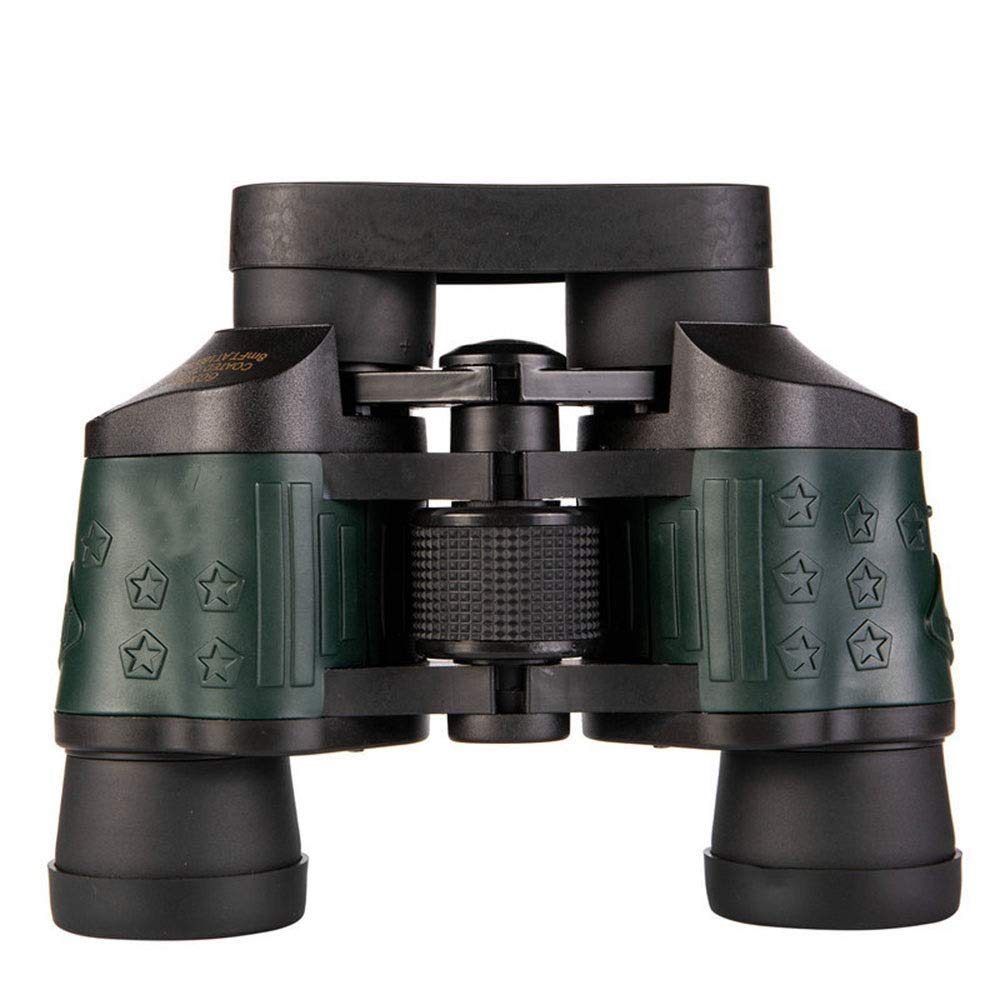 Outdoor Travel Telescope Binoculars Night Vision and HD High Definition, BAK4, Waterpoof Red Objective Lens Fishing Camping Hiking Cruise Mental Body Black with Army Green (Color : Black) by YITEJIA