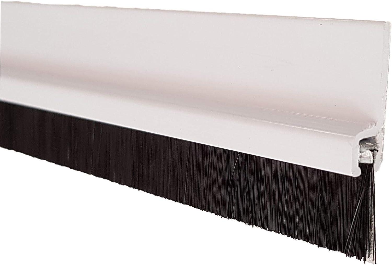 Bianco Stamplast srl Paraporta parafreddo sottoporta Rigido in PVC con Spazzola 1mt