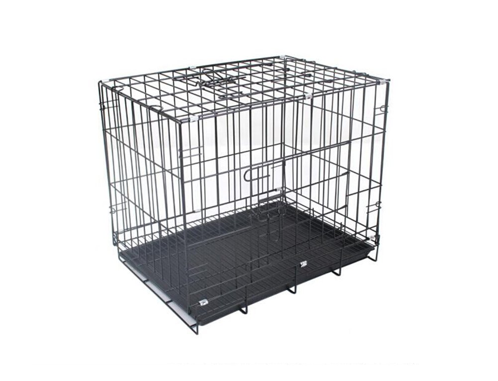 Black ZSSHJ Dog cages, Small and medium dogs Collapsible Pet cage Kennel Encryption Iron cage With skylight 905565cm (color   Black)
