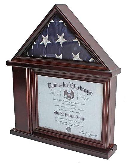 .com: flag display case certificate & document holder frame 3 ...