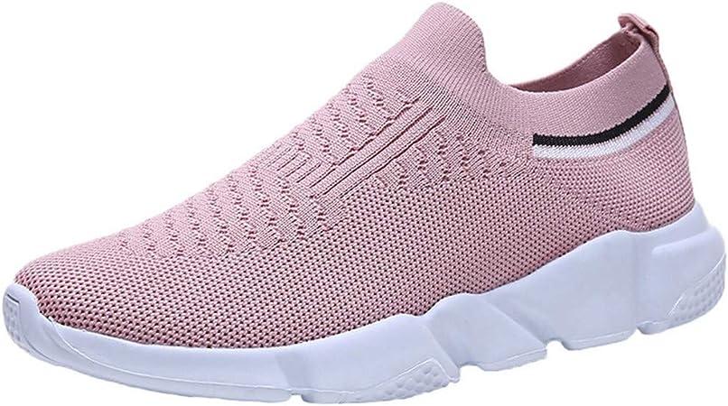 RYTEJFES Calzado Deportivo Zapatilla Malla Plataforma para Mujer Zapatillas De Deporte Sin Cordones Zapatillas Transpirables para Dama Zapatillas Deportivas Zapatillas De Fondo Suave De Señoras: Amazon.es: Hogar