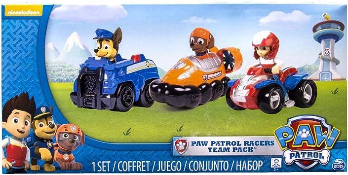 Comprar Paw Patrol Rescue Racers 3pk Online Exclusive 2 (Chase, Zuma, Ryder) vehículo de juguete - Vehículos de juguete (Zuma, Ryder), Multicolor, Camión, De plástico, Interior, 3 año(s), Niño/niña)