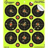 "25 Pack - 3"" ""Stick & Splatter"" Adhesive Splatterburst Target - Instantly See Your Shots Burst Bright Florescent Yellow Upon Impact!"