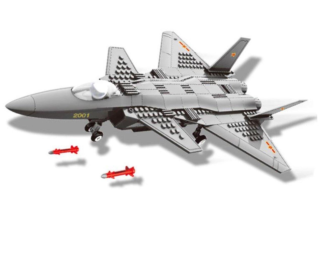 Wange Modellino di F15 Eagle Aeromodellismo 1:48. Modello di Aereo da Caccia tattico bimotore da assemblare con Blocchi