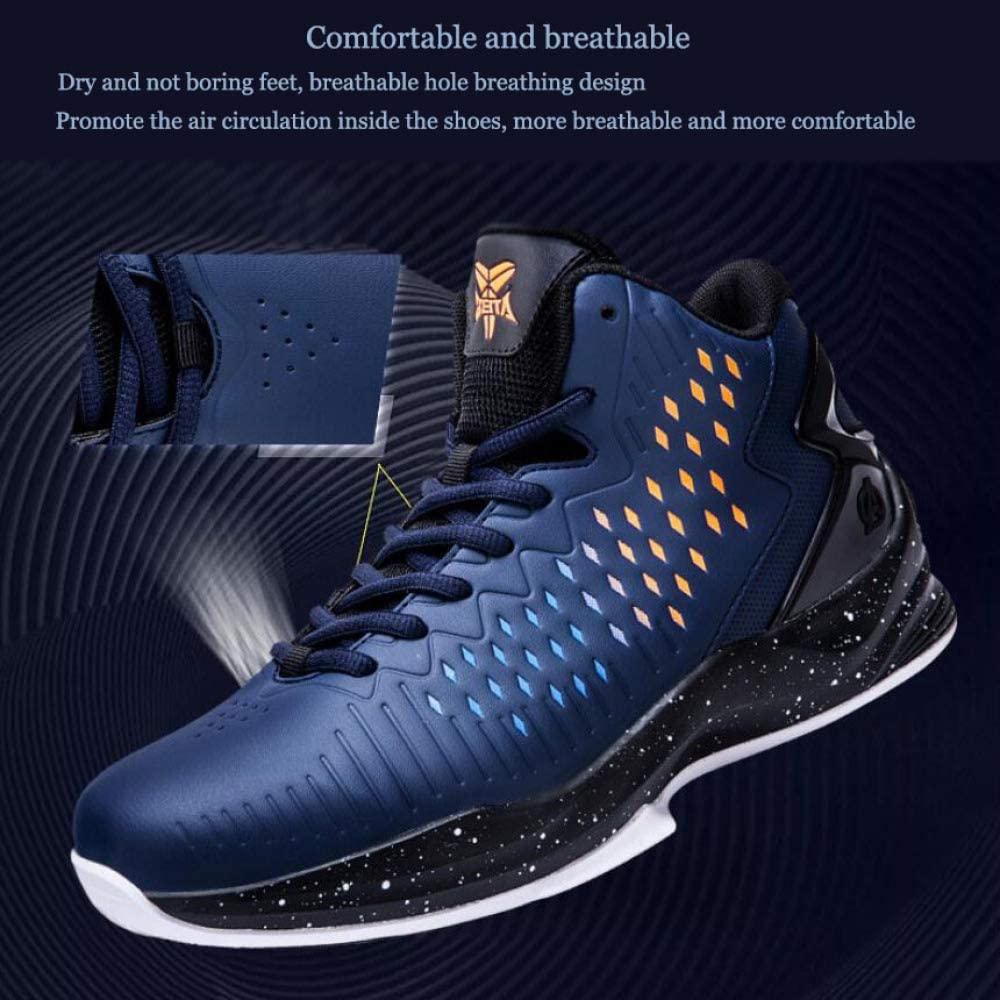GAOY Mens Basketball Shoes High Elastic Shock Sneakers Lightweight High Rise Gymnastics Boots Soft and Comfortable Sports Shoes,Multi-colored-EU41//UK7.5~8//US8.5~9
