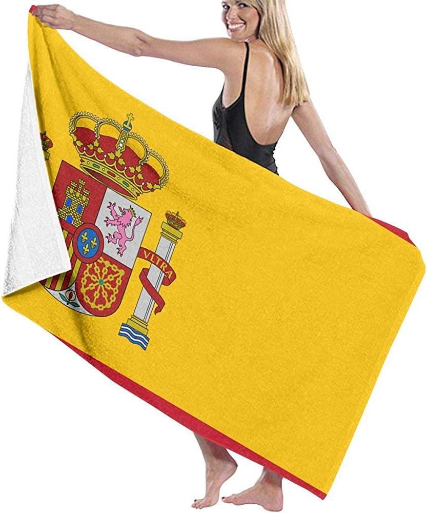 Leo-Shop Bandera de España Toallas de Microfibra de Playa Secado rápido Súper Absorbente Baño Toallas de Piscina para natación y Aire Libre: Amazon.es: Hogar