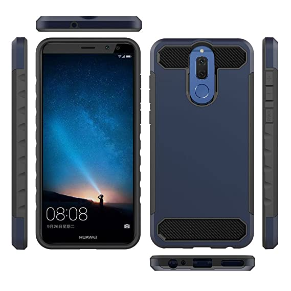 Amazon.com: Ocamo For Huawei Mate 10 Lite Carbon Fiber ...