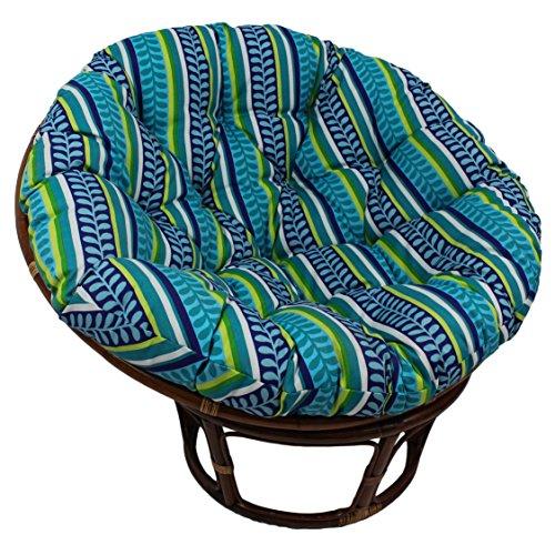 Blazing Needles Patterned Outdoor Spun Polyester Papasan Cushion, 44