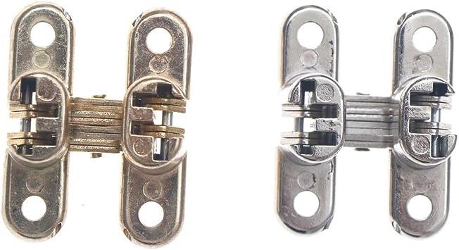 Bisagra invisible oculta para puerta corredera, aleación de zinc, bisagras ocultas para puertas plegables, 41.82230 mm (color: SV): Amazon.es: Bricolaje y herramientas