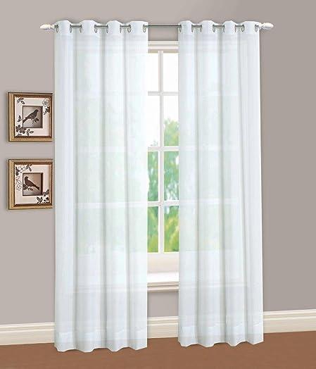 LORRAINE HOME FASHIONS Reverie Window Curtain Panel, 60 x 95, White